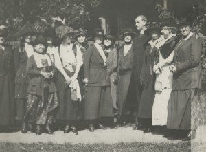 Fr. John Burke with board members of the National Council of Catholic Women, a group founded under his leadership as part of the NCWC, though now an independent entity in the twenty first century, 1920. USCCB Executive Department/Office of the General Secretary Records, American Catholic History Research Center and University Archives of The Catholic University of America.