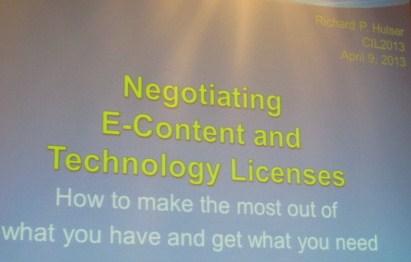 Negotiating licenses
