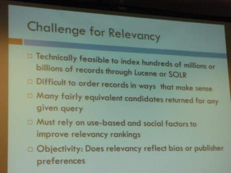 Discovery services challenges for relevancy