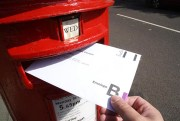 Postal ballot paper being posted