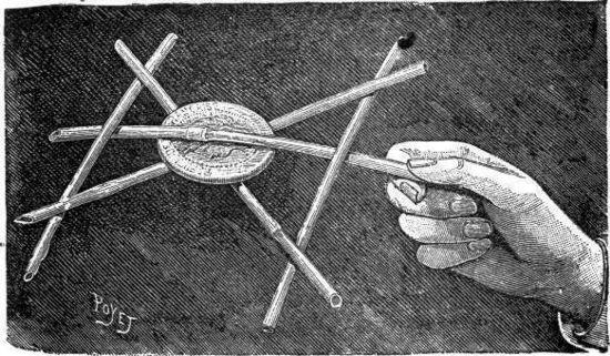 El truco de las cinco varillas