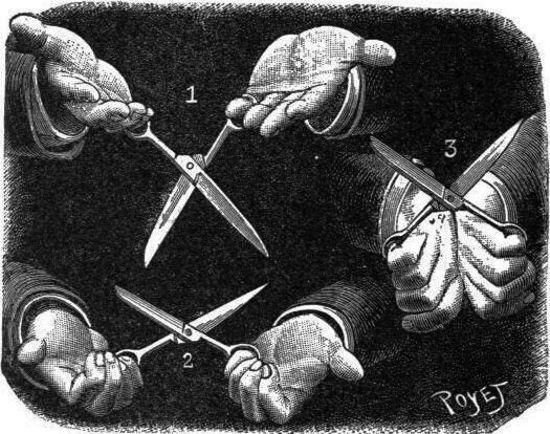 El problema de las tijeras
