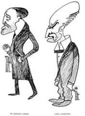 Lord Lansdowne y Sir Edward Carson