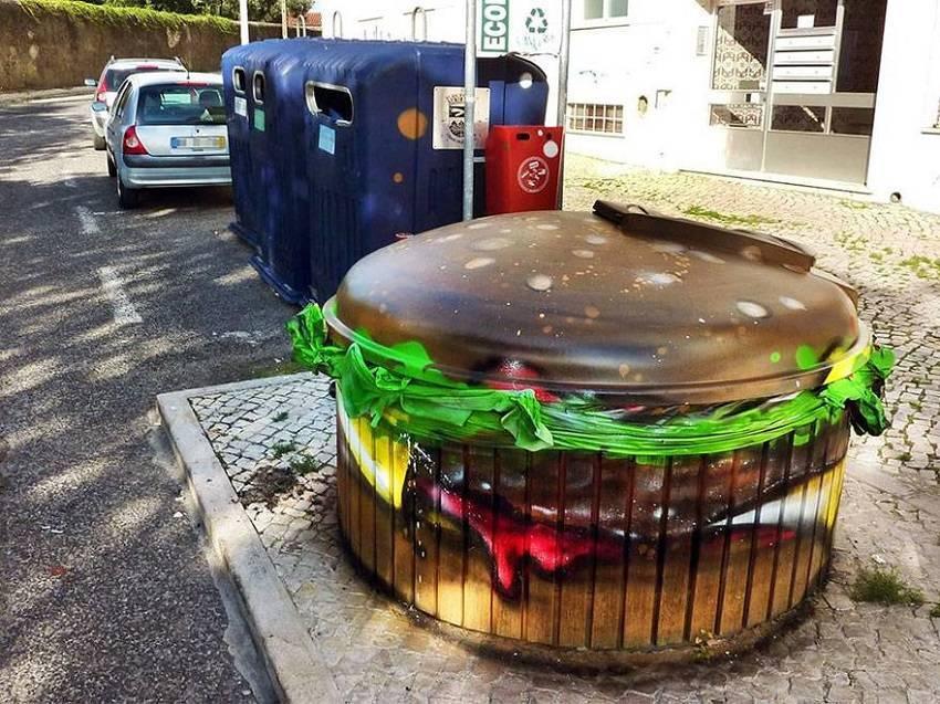01-Bordalo II - Amazing Street Art Murals From Trash