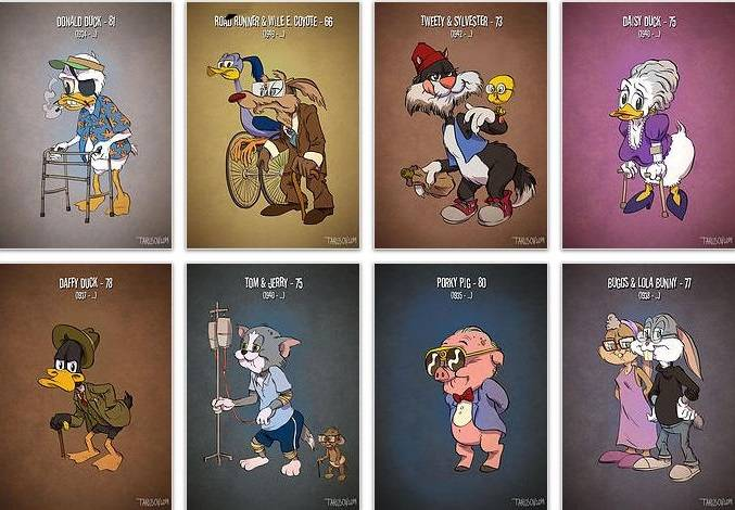 Famous Cartoon Characters in Their Real Age