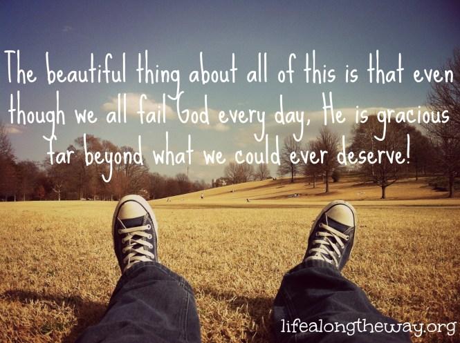 God is so gracious