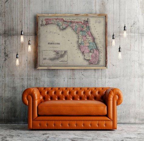 lbw-vintage-map
