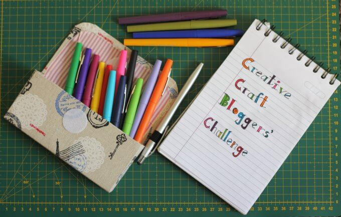 Upcycled Pencil Box ~ Creative Craft Bloggers Challenge #CCBG ~ Life Beyond the Ktchen