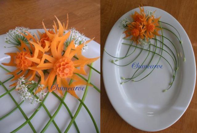 carrot-flower-carving