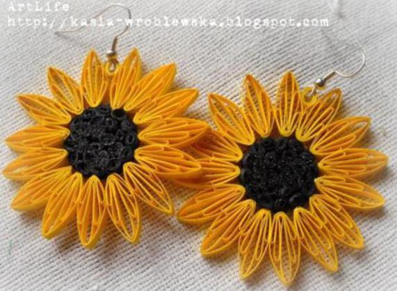 sunflower-quilling