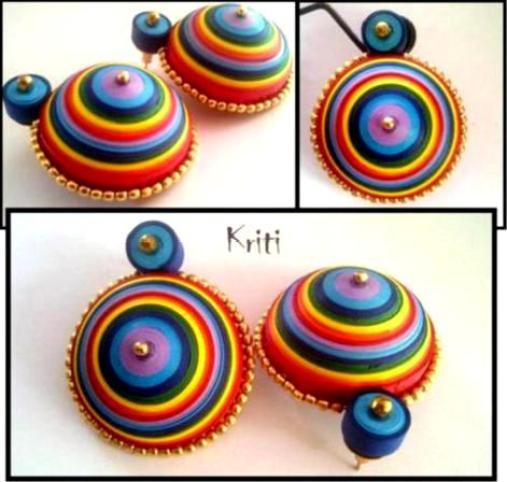 Paper Quilling Jhumka Designs By Kriti Handmade Jewelry