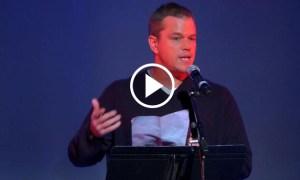 Matt Damon Shocking Speech Global Elite