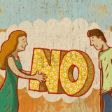 Saying No Image by © Illustration Works