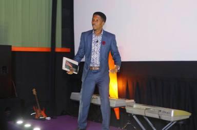 Pastor Iren Emmanuel teaching at celebration church
