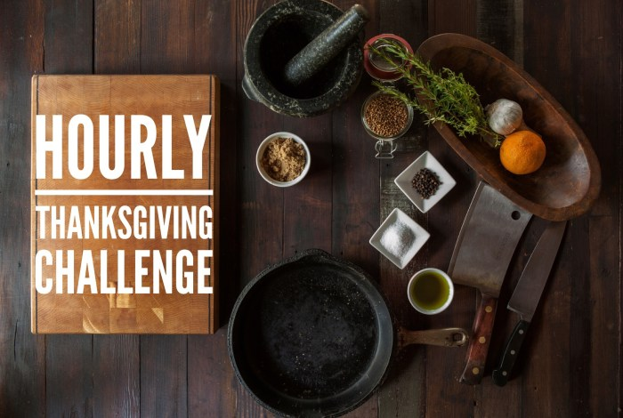 Hourly Thanksgiving Challenge