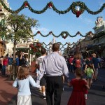Heading down Main Street U.S.A. Christmas morning