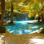 relax by the spa pool Fern Tree