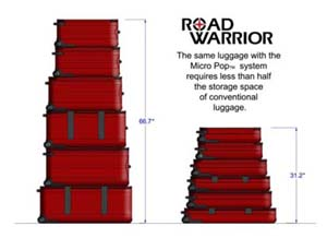 ROAD WARRIOR LUGGAGE COLLAPSIBLE LUGGAGE