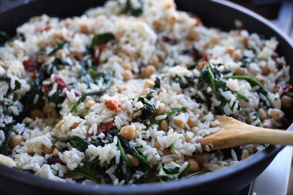 Greek Picnic Salad, toss together in a large skillet and serve at room temperature
