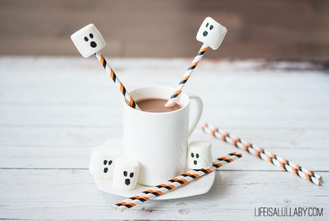 Marshmallow Ghost Hot Chocolate Halloween