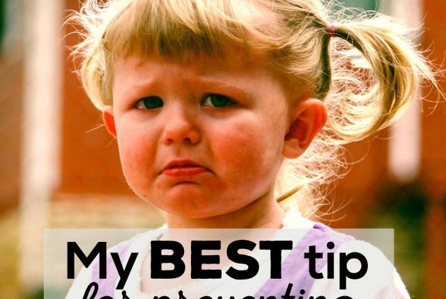 My Best Tip for Preventing Tantrums