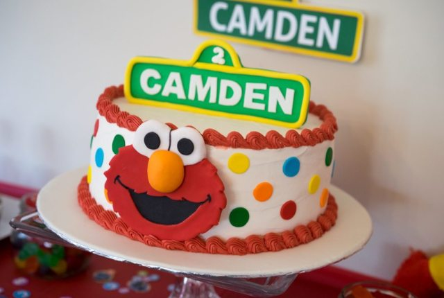 Elmo Birthday Party Cake