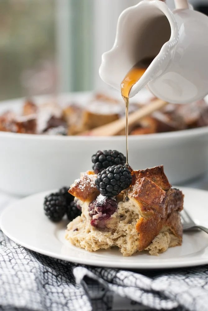 Baked Whole Grain Blackberry French Toast-5