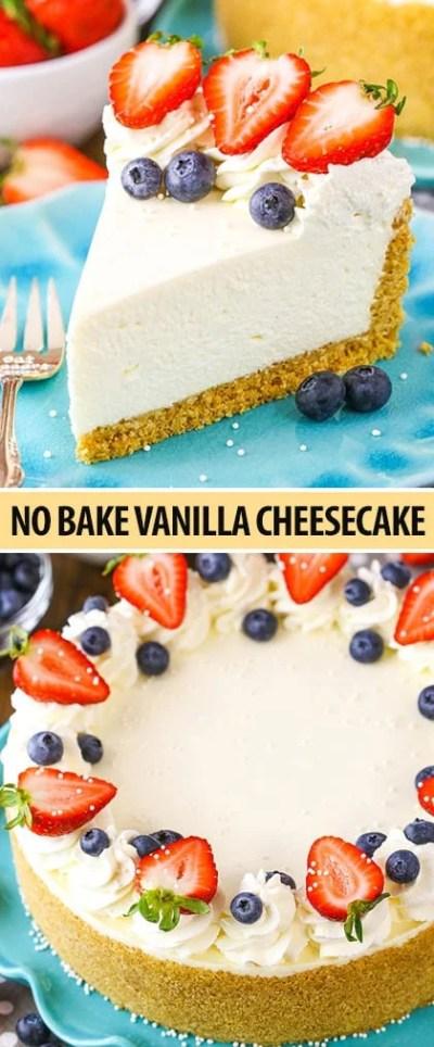 The Best No-Bake Cheesecake Recipe   Life Love and Sugar
