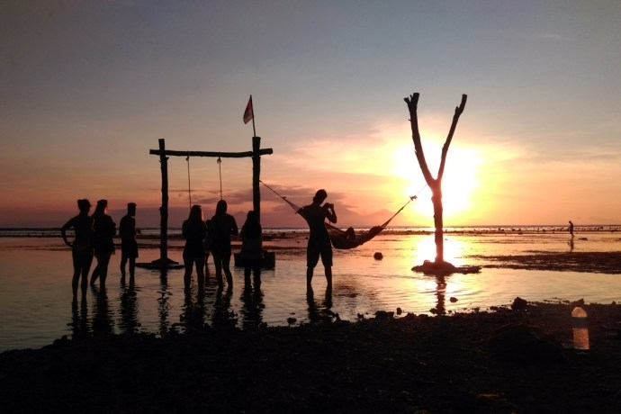 Gili Trawangan's sunsets can be pure, surreal magic