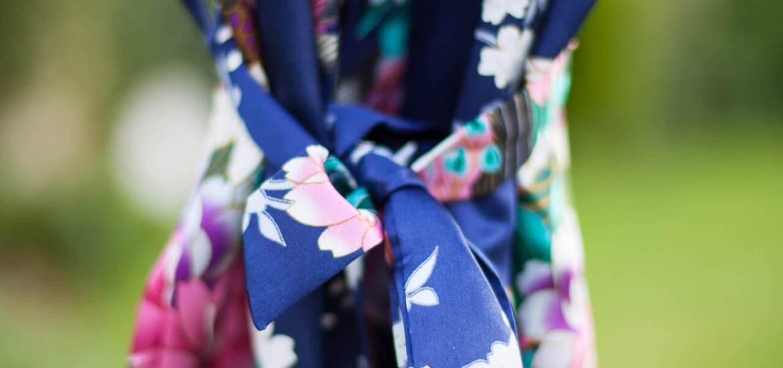 Silk Floral Robe (Short)