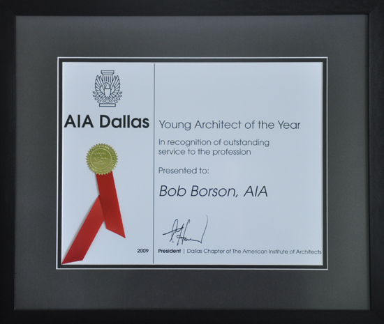 Bob Borson Dallas AIA Young Architect of the Year