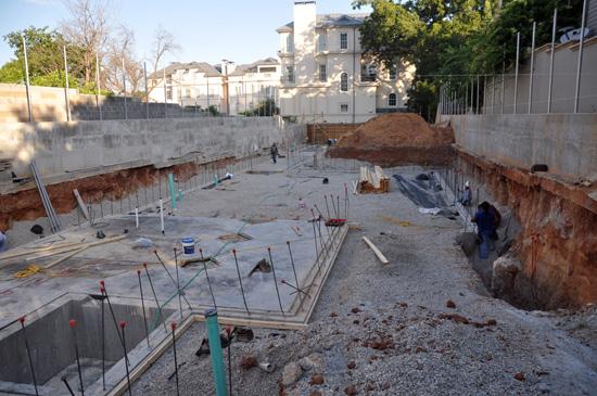 basement slabs get poured
