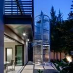 Stainless Steel Circular Stair - Dallas Architect Bob Borson