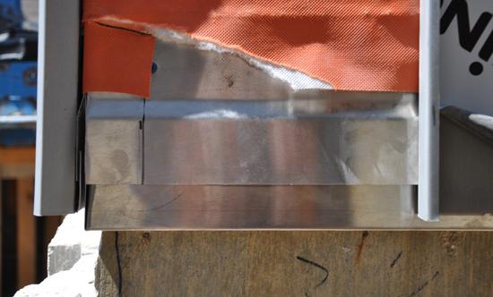 zinc siding detail at modern house