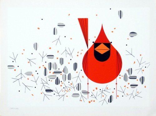 Charley Harper Cardinal Ford Times