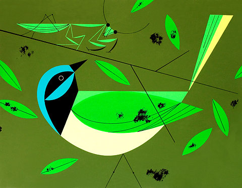Charley Harper Green Jay Ford Times