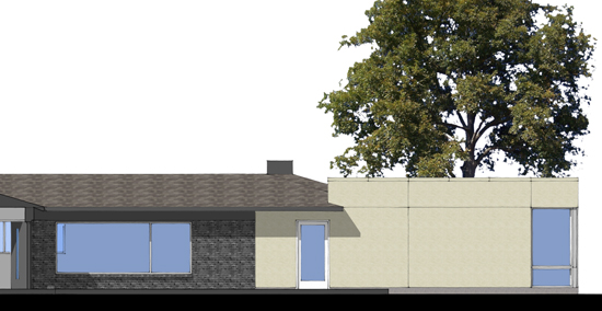 SketchUp Partial East Elevation