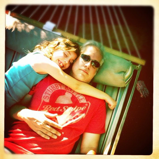 Lying in the hammock with Kate