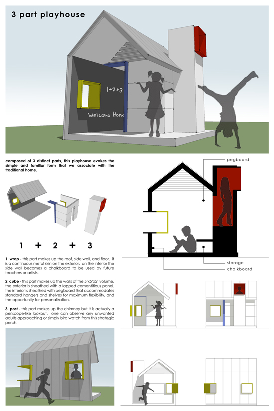3 Part Playhouse by Josh Ward