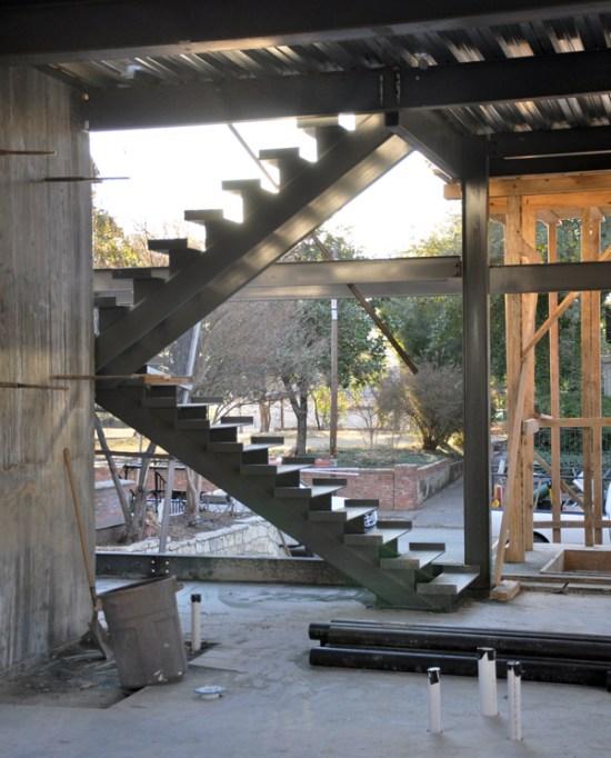 modern steel stairs