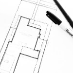 architect sketching up a site plan