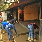 finishing the concrete