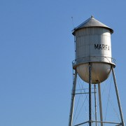 Marfa Texas water tower - photo by Bob Borson