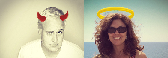 Bob Borson Devil and Michelle Borson Angel