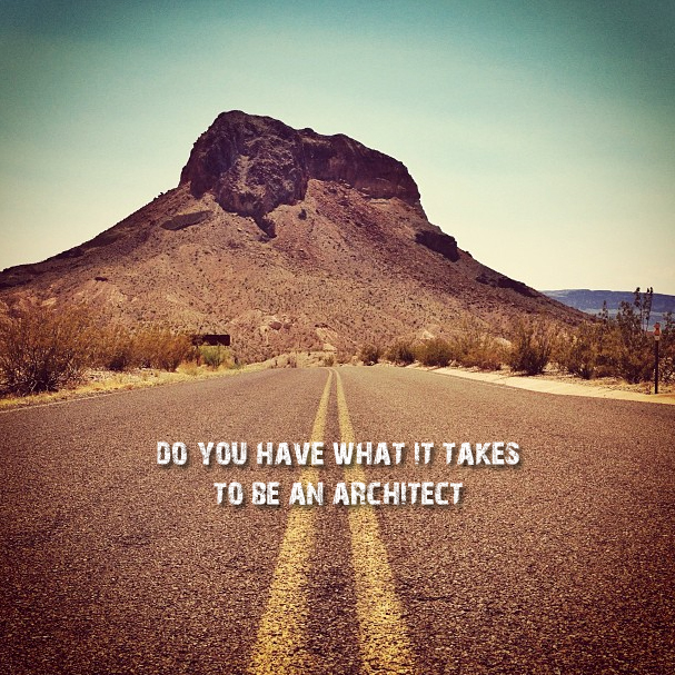 Do you have what it takes to be an architect road