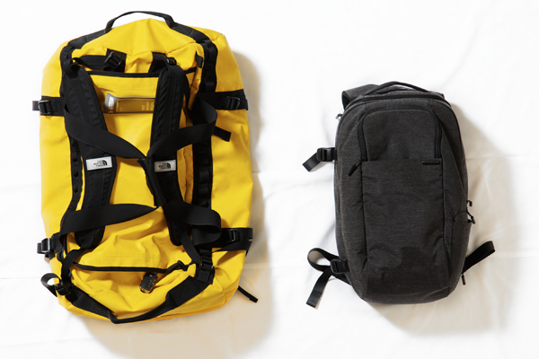 Photographer Matthew Carbone's travel bags