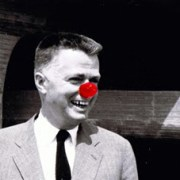 Architect Paul Rudolph as Rudolph the red nosed reindeer