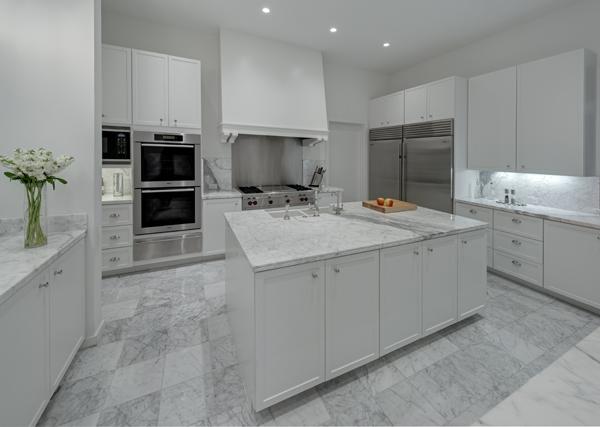 white countertops kitchen from Michael Malone Architects