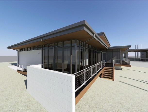 KHouse Modern BIM terrace view Jan 2014