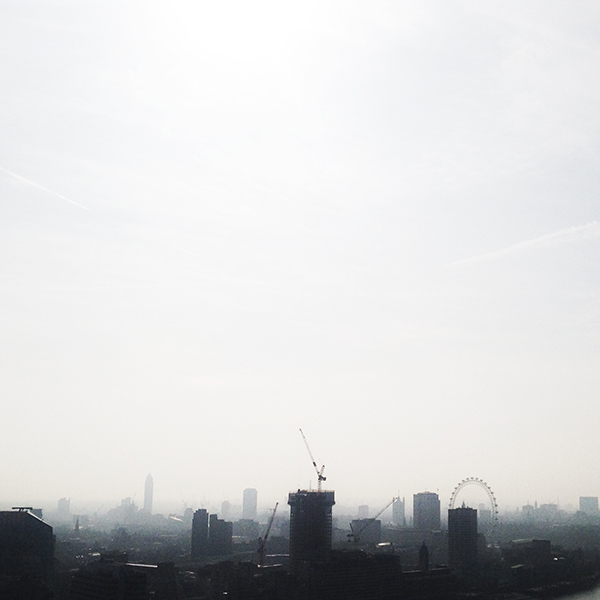 view from Saint Paul's Cathedral of downtown London